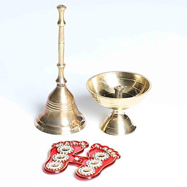 Laxmi Charan With Bell and Diya
