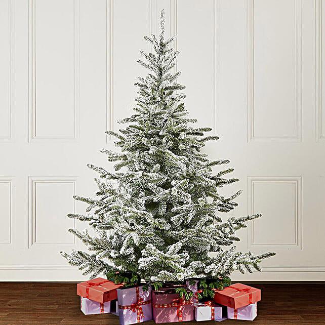 Fresh Snowy Christmas Tree