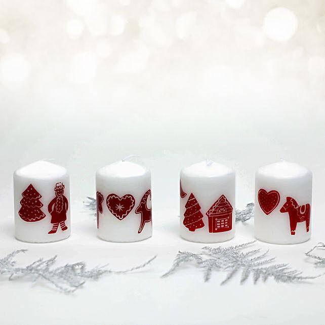 Christmas Theme Pillar Candle