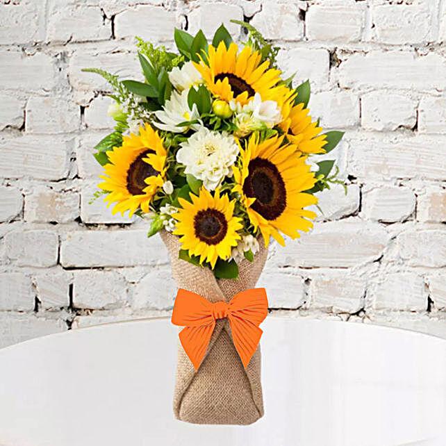 Sunflower Galore Bunch:Send Flowers to UAE