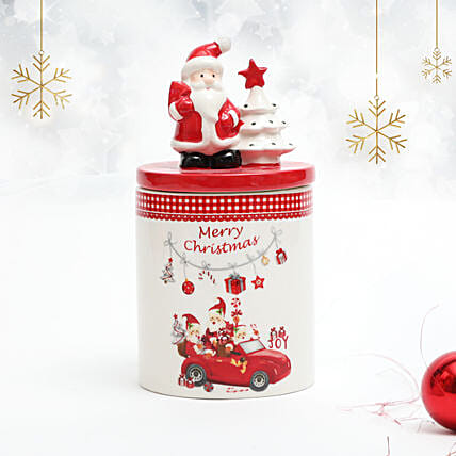 Set of 2 Merry Christmas Santa Jar