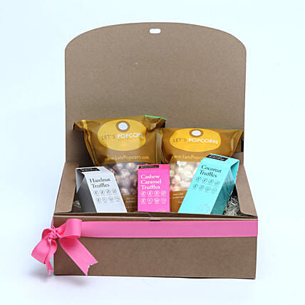 Healthy Chocolates and Popocorn Gift Pack