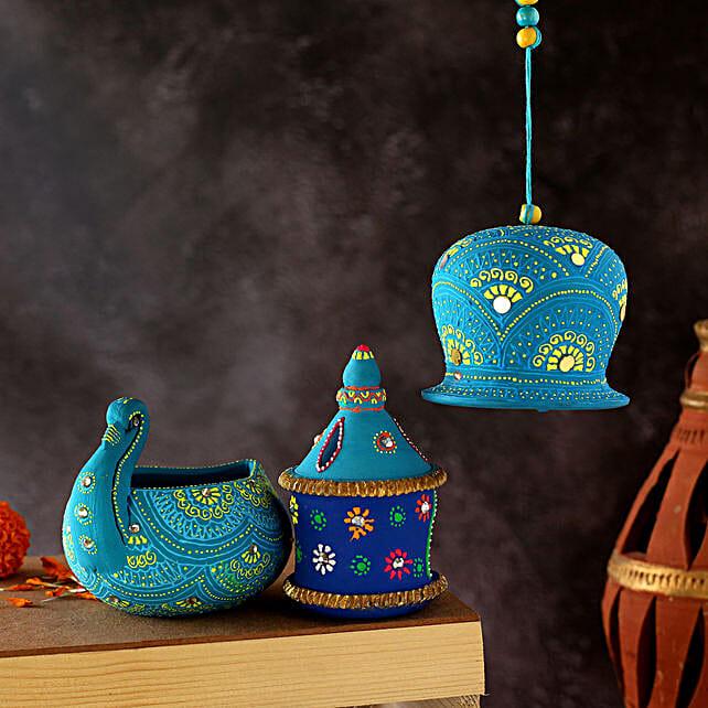 Swan And Gharondia Diya With Bell