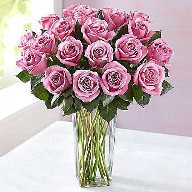 Vase Of Mystic Purple Roses