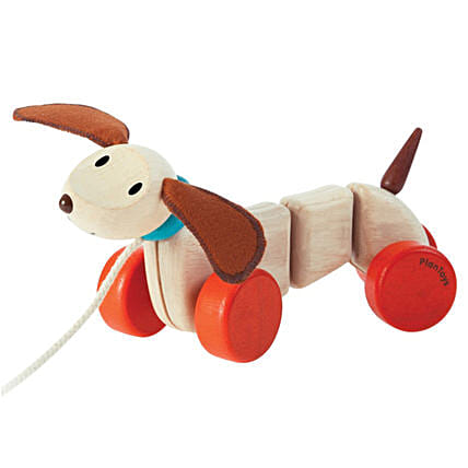 Wooden Happy Puppy Toy