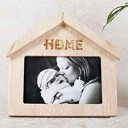 Wooden Home Shaped Frame:Personalized Gifts Dubai UAE
