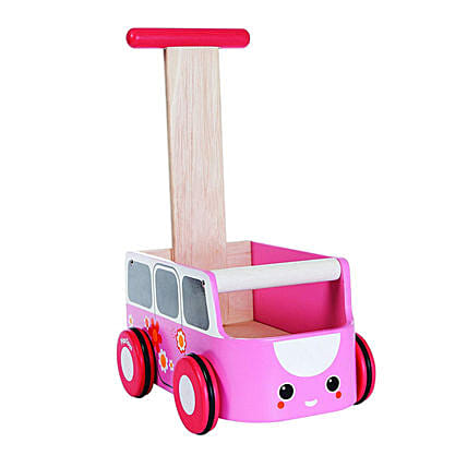 Wooden Van Walker Pink