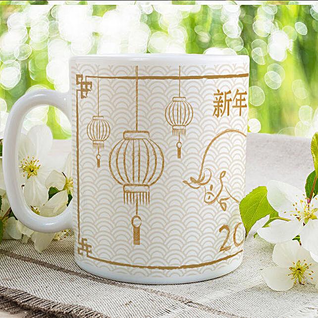 Year Of Ox Printed Mug:Send Chinese New Year Gifts to UAE