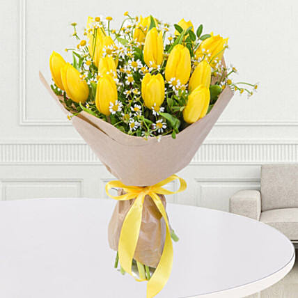 Yellow Tulips Bouquet