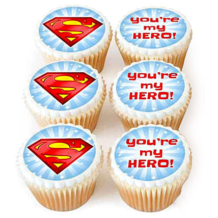 You Are My Hero Cupcakes:Send Fathers Day Gifts to UAE