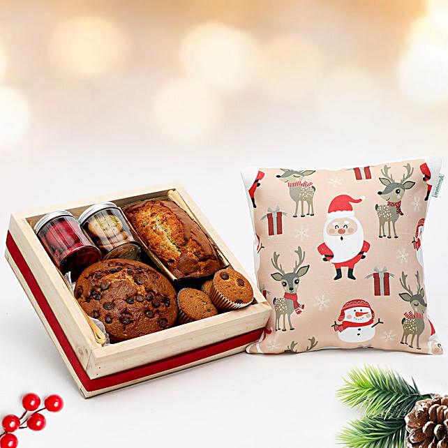 Yum Treats & Christmas Cushion Combo