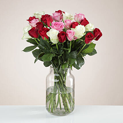 Beautiful Mixed Fairtrade Roses Bunch