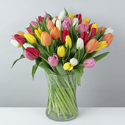 Beautiful Mixed Tulips Bouquet:Flower Delivery UK