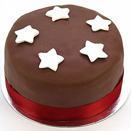 Chocolate Star Cake Egg Free:Chocolate Cake Delivery in Uk