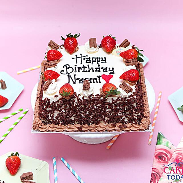 Chocolate Vanilla Strawberry Cake