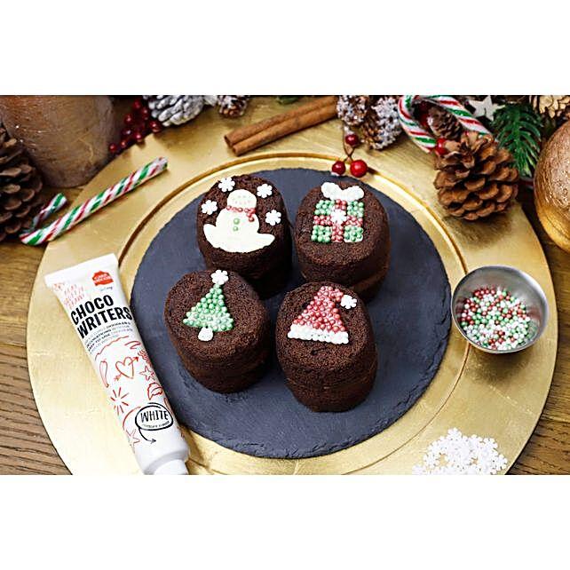 Christmas Decor Baby Sponges:Send Christmas Cakes to UK