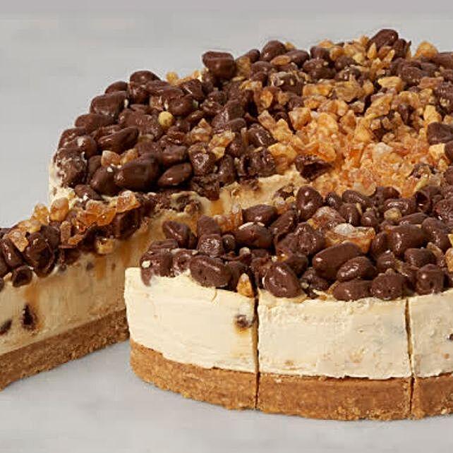 Christmas Honeycomb Golden Nugget Cheesecake