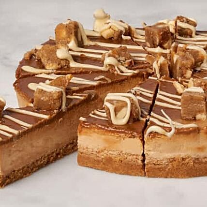 Christmas Special Salted Caramel Blondie Cheesecake