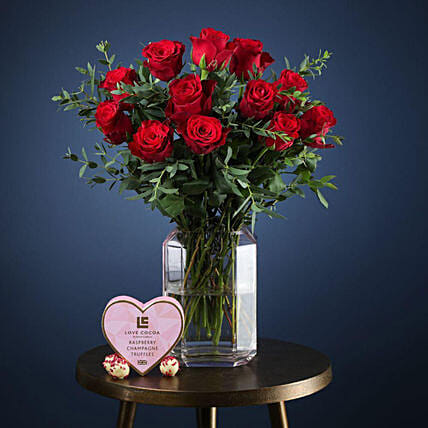 Classic Valentine Gift Set:Flower Delivery UK