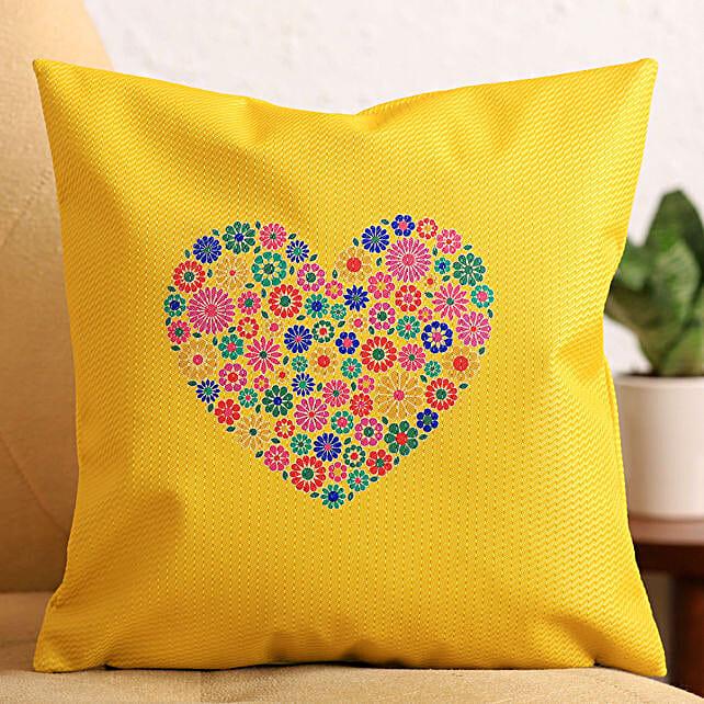 Colourful Heart Cushion:Birthday Cushion to UK