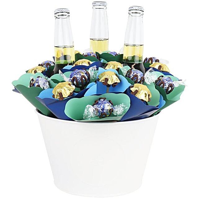 Corona Beer And Chocolate Flowers Arrangement