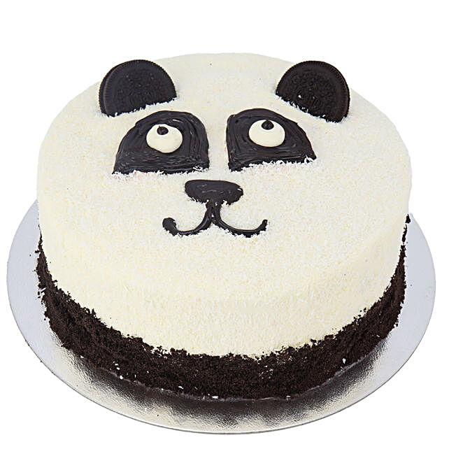 Cute Panda Fresh Cream Cake