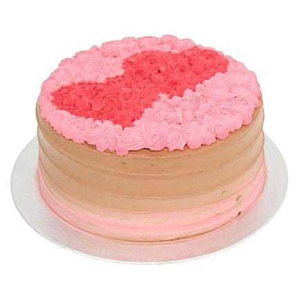Duo Heart Cake:Valentine Cake Delivery in UK