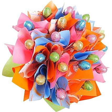 Easter Bloom Chocolate Eggs Bouquet With Gift Card