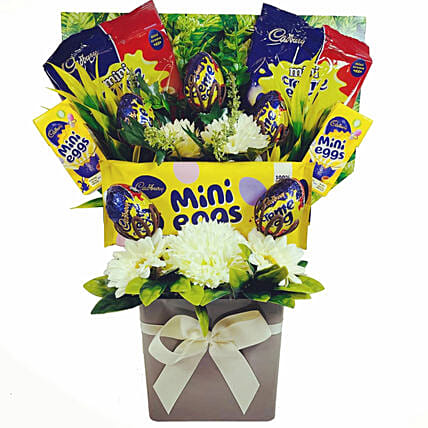 Easter Special Creme Eggs And Mini Eggs Bouquet:Easter Gifts to UK