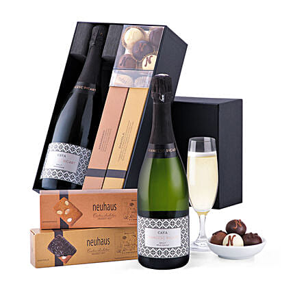 Francesc Ricart Cava And Neuhaus Chocolates:New Year Gifts to UK
