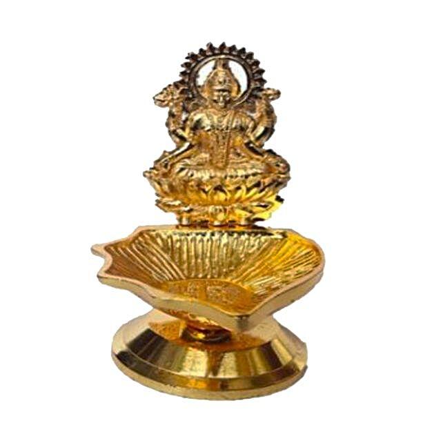 Goddess Laxmi Gold Deeva Lamp