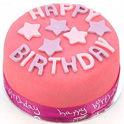 Happy Birthday Pink Cake:Cake Delivery UK