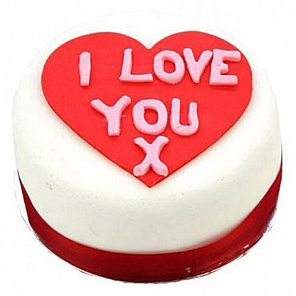 I Love You Heart Cake:Gifts for Wife in UK