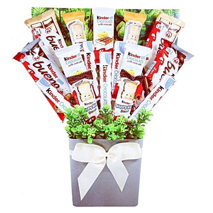 Kinder Chocolate Bouquet:Send Christmas Gifts to UK