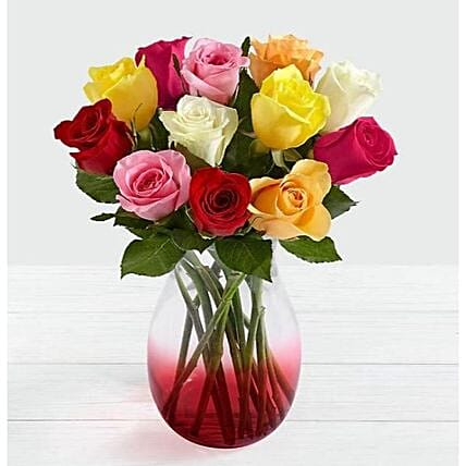 Mixed Roses Bouquet:Flower Delivery UK