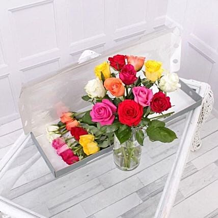 Mixed Roses Letter Box:Send Flowers to UK