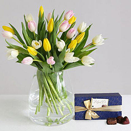 Mothers Day Tulips Gift Set