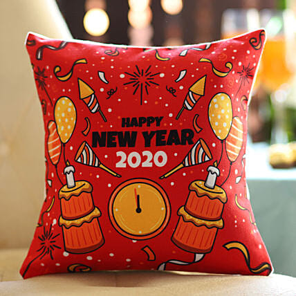 Printed cushion for new year