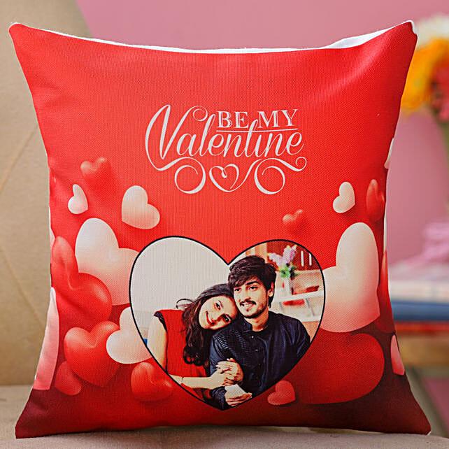 personalised valentine day cushion
