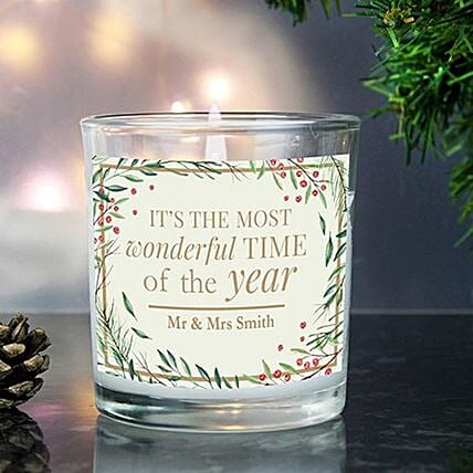 Personalised Beautiful Scented Jar Candle