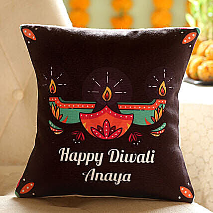 Customise Diwali Diya Cushion