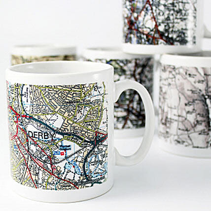 Personalised Gps Map Mug