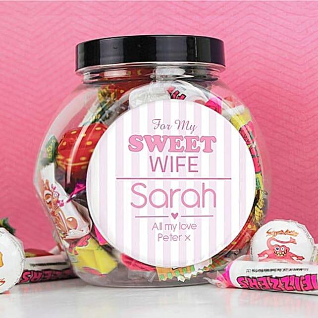 Personalised Jar Of Sweets