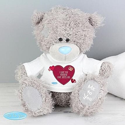 Personalised Me To You Bear With Heart T Shirt