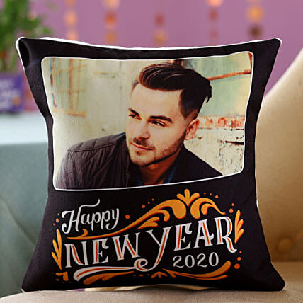 New Year Photo Cushion Online