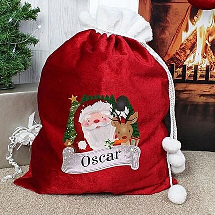 Personalised Red Santa Sack:Send Christmas Gifts to UK