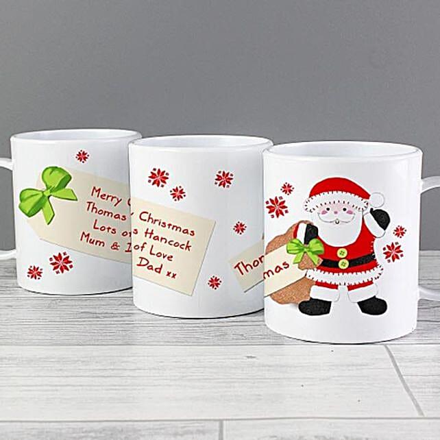 Personalised Santa Sack Plastic Mug:Christmas Gifts UK