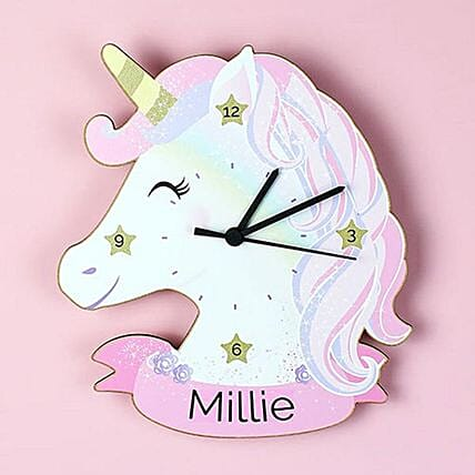 Personalised Unicorn Clock:Send Christmas Gifts to UK