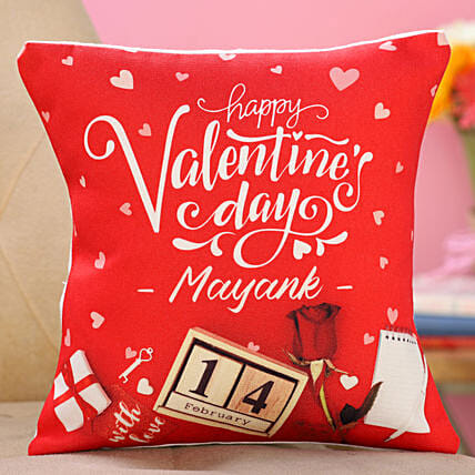 valentine day printed cushion for him:Send Personalised Gifts to UK