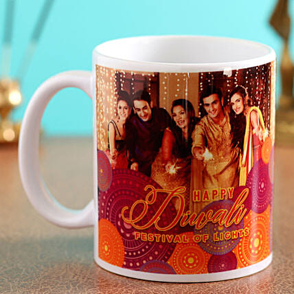personalised diwali mug for her